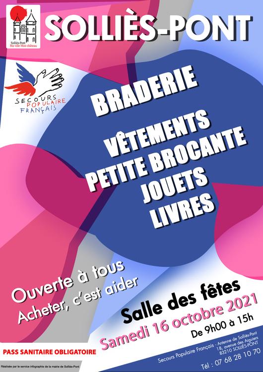 Braderie Secours populaire Marché Salle des fêtes - Solliès-Pont