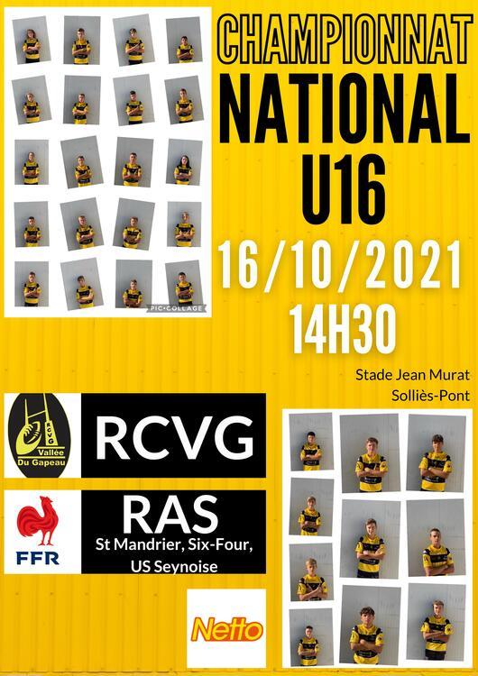 Championnat national U16 - RCVG/RAS Sport Au stade Jean Murat - Solliès-Pont