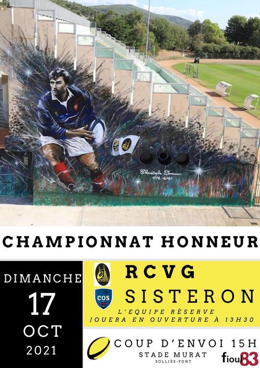 Championnat honneur RCVG/Sisteron Sport Au stade Jean Murat - Solliès-Pont